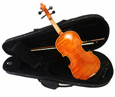 Beautiful 1/4 Solid Wood Flomed back Violin+Octagonal Bow+Case+Rosin/Free String