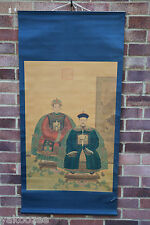A Chinese picture on silk depicting a couple  #20140050