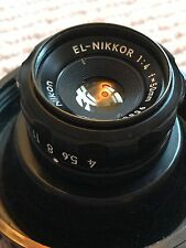 Nikon (El-Nikkor) 50mm f4 Lens (fits L39 mount) and original CP-2 Plastic Case