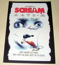 "SCREAM CAST X 3 PP SIGNED POSTER 12""X8"" COURTNEY COX NEVE CAMPBELL"