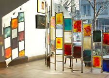 Dalle de Verre Slab Glass / Metal / Mesh Multi-Colored Custom Designed Screen