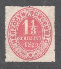 SCHLESWIG-HOLSTEIN STAMP #12 --  1 1/3s NUMERAL -- 1865 -- UNUSED
