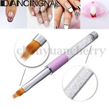 UV Gel Nail Brush Rhinestone Handle Nylon Hair Ombre Brush Pro Nail Art Tools