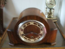 LARGE VINTAGE FRENCH 8 DAY WESTMINSTER CHIME MANTLE CLOCK VGC BALANCE MOVEMENT