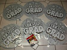 Silver Graduation Party Decor Balloon Package 12 Mylars 24 Latex & FREE BONUSES