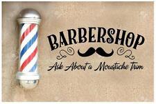 1x autocollant mur barbiers barbershop art 1m x 487 vintage barbiers SIGNE