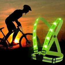 USB 14 LED Light Up Safety Reflective Stripes Vest Jacket Night Sport Clothing