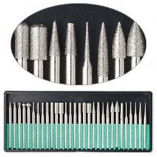 """30PCS Diamond Burr Bits Drill Rods 1/8"""" For Engraving Carving Rotary Tool Set"""