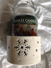 Yankee Candle Christmas Winter Flurries Stems Snowflake Medium Large Jar Holder