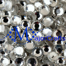 25pcs Crystal Clear 8mm ss40 Glass Flat Back Non-HotFix DMC Rhinestones, Beads