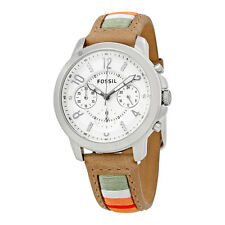 Fossil Gwynn Chronograph White Dial Ladies Watch ES4085