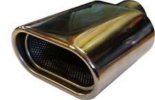 Fiat Punto/Grande 120X70X180MM OVAL POSTBOX EXHAUST TIP TAIL PIPE CHROME WELD
