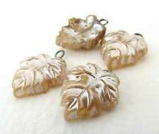 Vintage Pearl Beads Glass Drops Leaf Charms Headpin Wire Loops Japanese