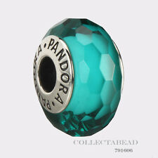 Authentic Pandora Sterling Silver Murano Fascinating Teal Bead 791606