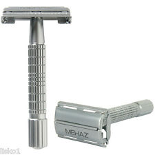 Mehaz 1197 Classic Double Edge Men's Safety Razor Chrome Plated All Metal