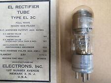 WWI WWII era Vintage Type EL-3C Rectifier Tube Full Wave Xenon Gas Filled NOS