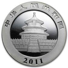 10 yuan 2011 Panda Cina China Chine argento plata silver 999