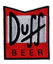 Duff Beer Simpsons Style Iron/sew on Patch FREE NORTH AMERICA shipping