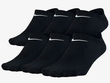 New Nike Women 6 Pair No-Show Socks BLACK 6-10  Medium SX4129-010 Tennis Running