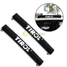 1 Pair TIROL Oxford Car Roof Rack Pads Inflatable Padded Crossbar Roof Cover New