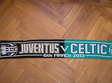 SCIARPA SCARF JUVENTUS VS CELTIC GLASGOW CHAMPIONS LEAGUE 6/3/2013 FOOTBALL