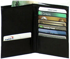 Genuine Leather Passport Holder with Card Slots Black # 4240