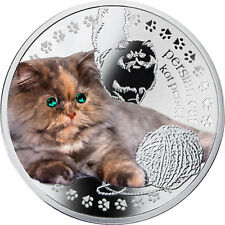Niue 2014 1$ Persian Cat Man's Best Friends – Cats Proof Silver Coin