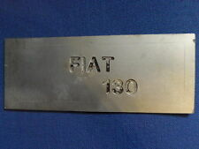 FIAT 130 Coupe Blende Schild Typenschild Abdeckung Schriftzug alu