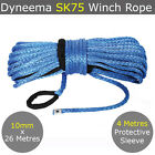 10MM X 26M Dyneema SK75 Winch Rope Synthetic Car Tow Recovery Cable Offroad 4WD