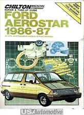 CHILTON REPAIR & TUNE-UP GUIDE FOR FORD AEROSTAR 1986-1987