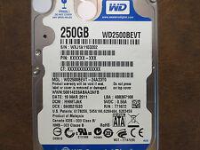 """Western Digital WD2500BEVT-24A23T0 DCM:HHMTJAK 250gb 2.5"""" Sata hard drive"""