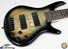 Ibanez GSR206SM 6-String Bass Natural Gray Burst (NGT) Spalted Maple Top! #34031