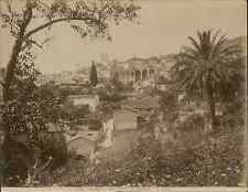 G.J. France, Grasse, vue entrée les arbres  vintage albumen print. Tirage albu
