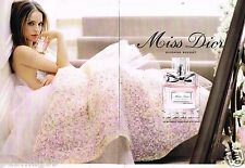 Publicité advertising 2014 (2 pages) Parfum Miss Dior avec Natalie Portman