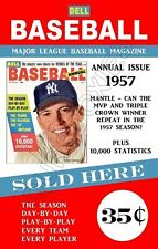 Mickey Mantle 1957 Dell Magazine Store Counter Advertising Standup Sign Repro