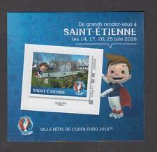 France - Bloc autocollant neuf Euro de Football 2016 - St Etienne - TB