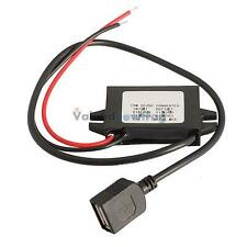 New 12V To 5V 3A 15W Step Down Car Charger Power Converter Module With USB Cable
