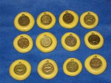 Zodiac Set of 12 Flexible Push Molds For Resin Clay Fondant Candy Food Safe #971
