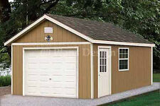 12 x 20 Garage Plans Shed  Building Blueprints, Design #51220