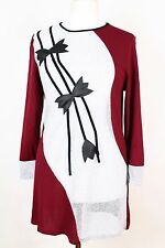 NEW WOMEN TUNIC  size  12/14  TOP  LONG  SLEEVE  BLOUSE  LADIES  7353