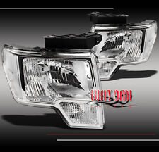 09-12 FORD F-150 PICKUP TRUCK CRYSTAL HEADLIGHT LAMP CHROME 10 11 LEFT+RIGHT NEW