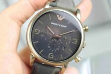 Authentic Emporio Armani AR-1815, RARE Pale Gold Tone Case Mens Chronograph Watc