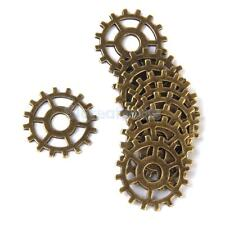 10pc Steampunk Punk Gears Wheel Watch Parts Pedants for DIY Necklace Craft