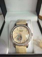 Ingersol lLady's Watch Freeport  IN7215YL SWAROVSKI  CRYSTAL , Leather strap