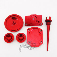 Pit Dirt Bike Red Engine Dress Up Valve Cap Cover For ATV 50cc 90cc 110cc 125cc