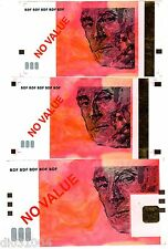 LOT SET SERIE 3 Billets FRANCE TEST NOTE ECHANTILLON 10 20 50 EURO €  RAVEL