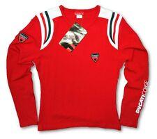 T-shirt manches longues ducati corse femmes motogp vélo moto nouveau! rouge medium