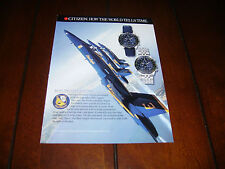 CITIZEN BLUE ANGLES NAVIHAWK SPORTS WATCH   ***ORIGINAL 1999 AD***