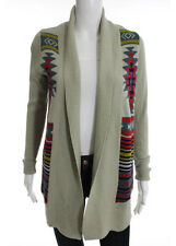 Ecote Taupe Multi-Colored Striped Knit Print Cardigan Size Extra Small $69 New