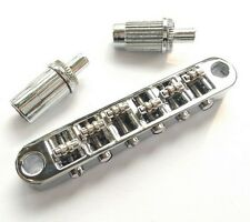Chrome Roller Tune-o-Matic Bridge for LP Guitar(Great For Bigsby) BM005CR NEW